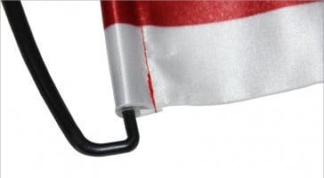 Satin on hand flag pull up banner