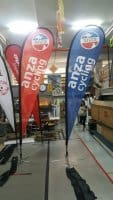 single sided printing on 3.3m teardrop banner