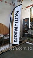 2.5m Small size Feather flag - Redemption