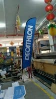 Large Feather Flag - DECATHLON