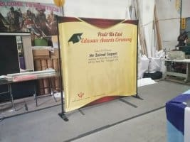 Portable backdrop for Edusave Awards Ceremony