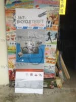 Foamboard with frame for Anti Bicycle Theft Exhibition2