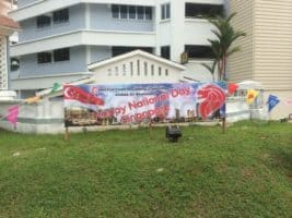 National Day Decoration using wooden board