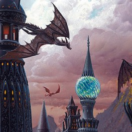 Ted Nasmith's The Towers of Valyria, used for Modern Fantasy II