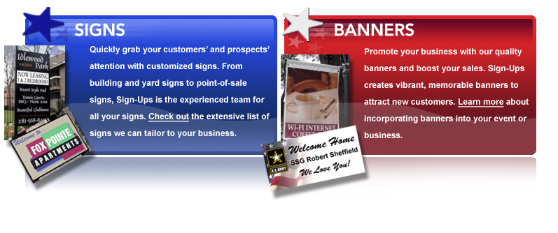 Learn more about our custom designed signs and digital banner