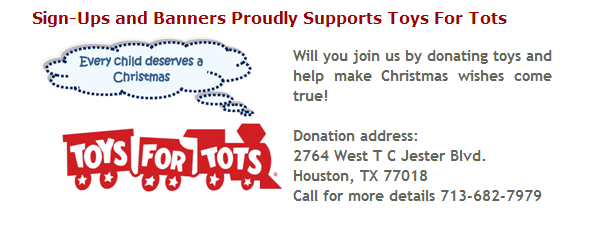 Toys For Tots Sign : Toys for tots sign ups and banners