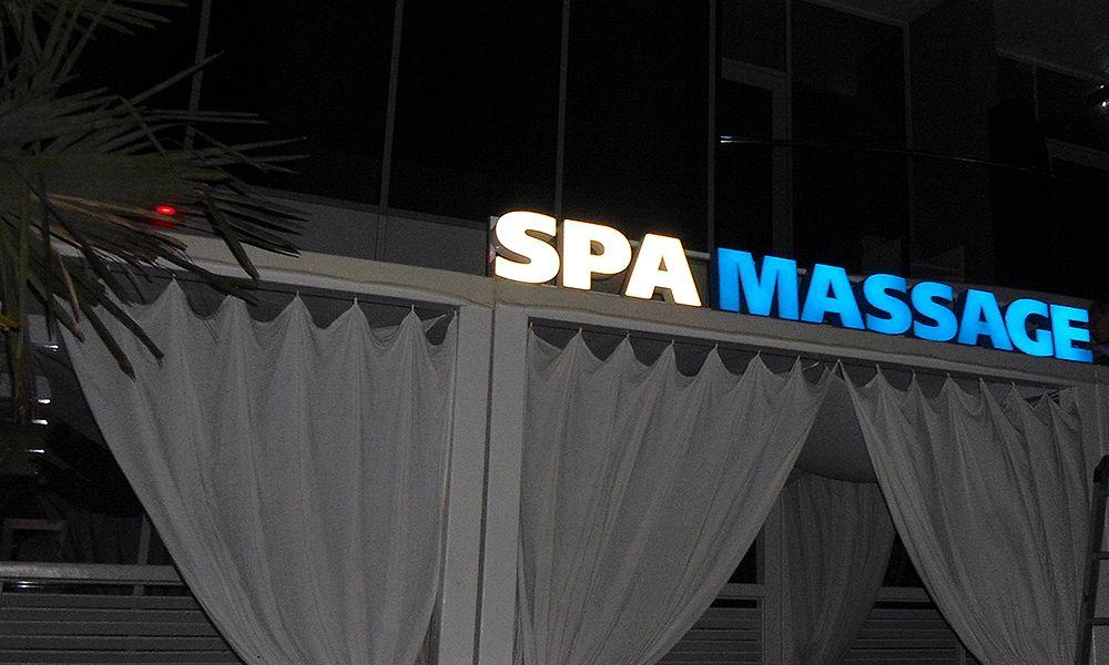 рекламное оформление вывеска на spa