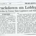 crackdown on lobbyists