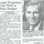 legal programs fare well