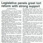 legislative panels greet tort