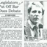 legislators put off bar