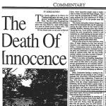 the death of innocence