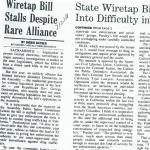 wiretap bill stalls despite