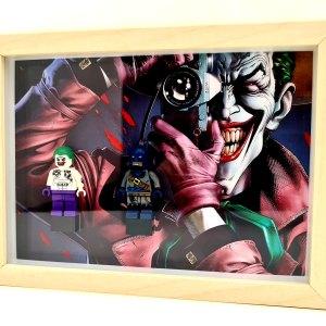 Cuadro minifiguras Batman y Joker (La broma asesina)