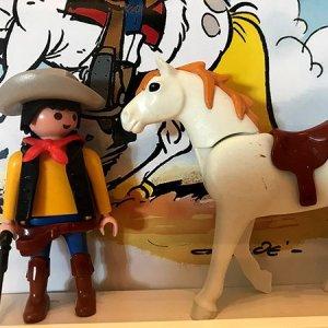 Playmobil Lucky Luke (custom) - Enmarcado para coleccionistas