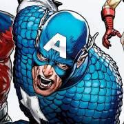 Detalle portada Captain America 80 Anniversary Tribute