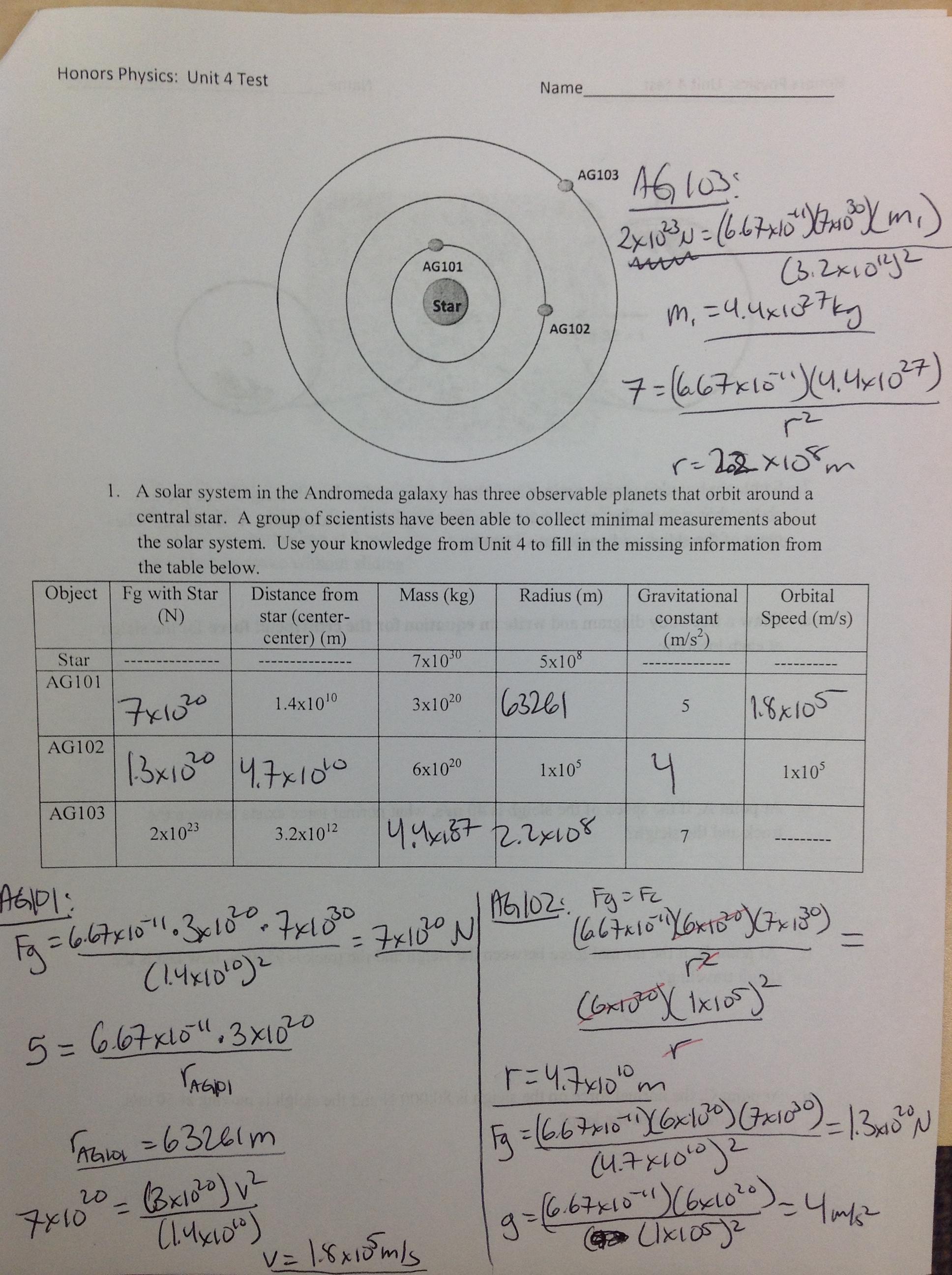 Unit 4 Centripetal Motion