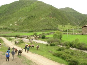 and also went on a trek into the mountains on horseback.
