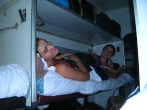 Sharing a train bed again