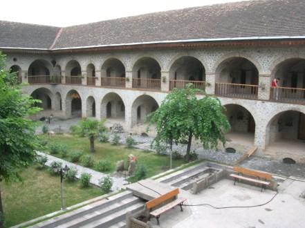 Inside courtyard of the caravanseri, Azerbaijan
