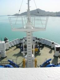 Caspian Sea, leaving Turkmenistan and heading to Baku