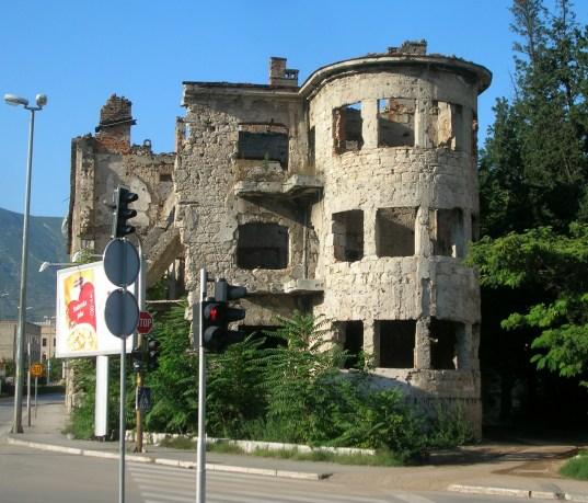 More shot up buildings Mostar, Bosnia