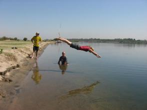 Goofing off on the Nile, Egypt