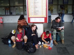 Lunch in the train station