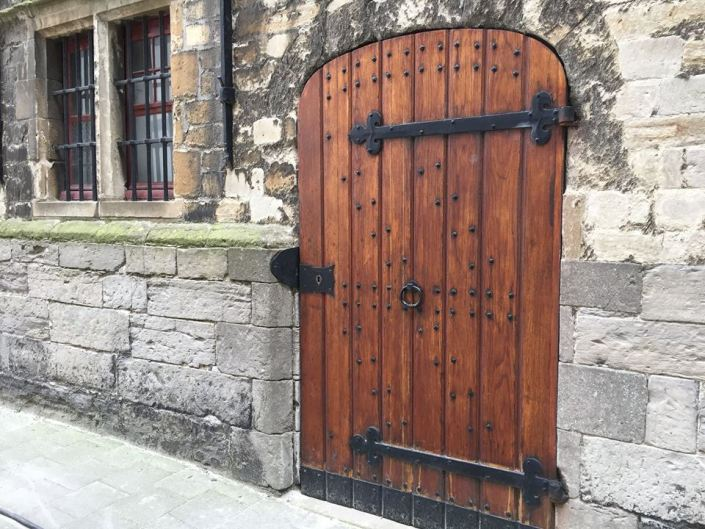 I seriously just stepped into a fictional novel with castles and dragons! I would do anything to have a door like this!