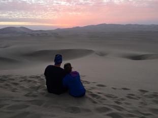 desert sunset. Peru.  Savannah Grace