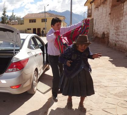 on our way to Ollantaytambo