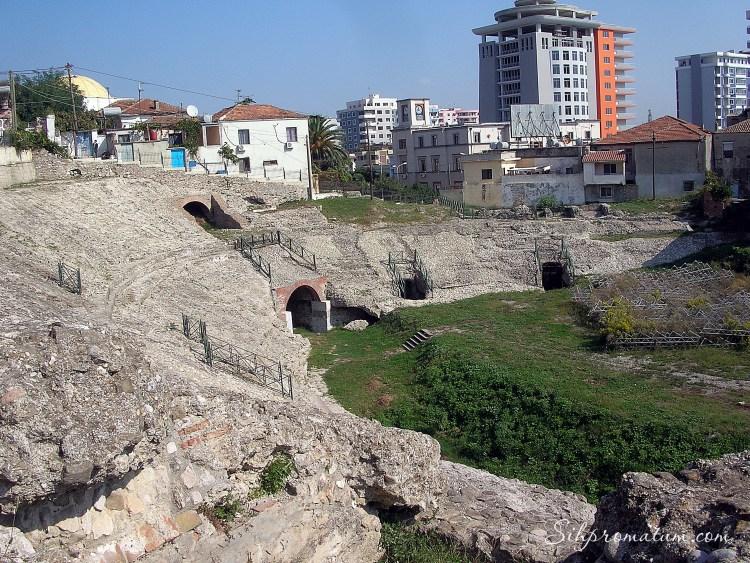 ancient Roman theater in Durres,Albania