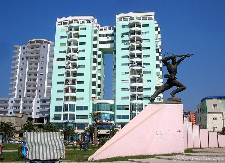 Monument of Partisan in Durres, Albania