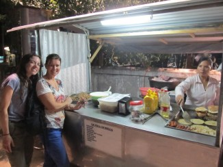 Trying the street food is always a must on a backpacking trip.