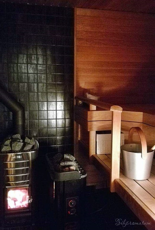 And lets not forget the in home sauna