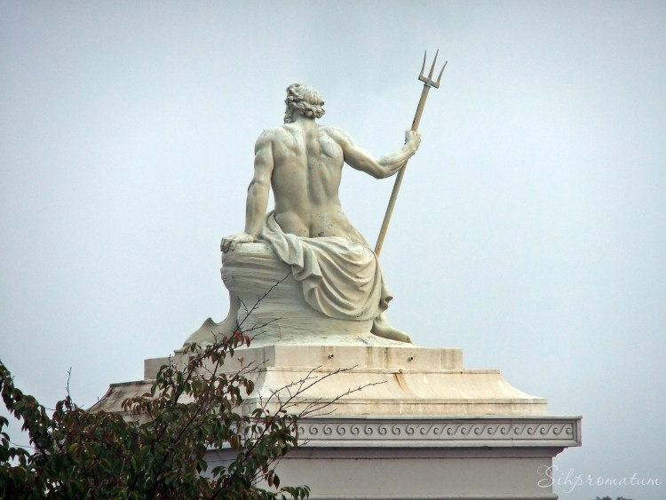 Statue Of The Greek God Of The Sea, Poseidon