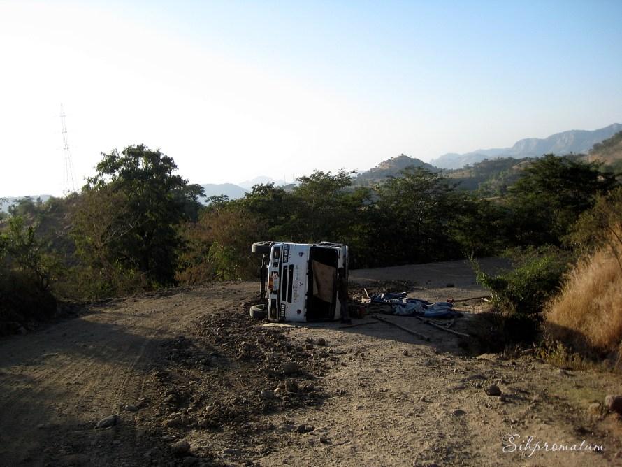 Overturned truck. Ethiopia