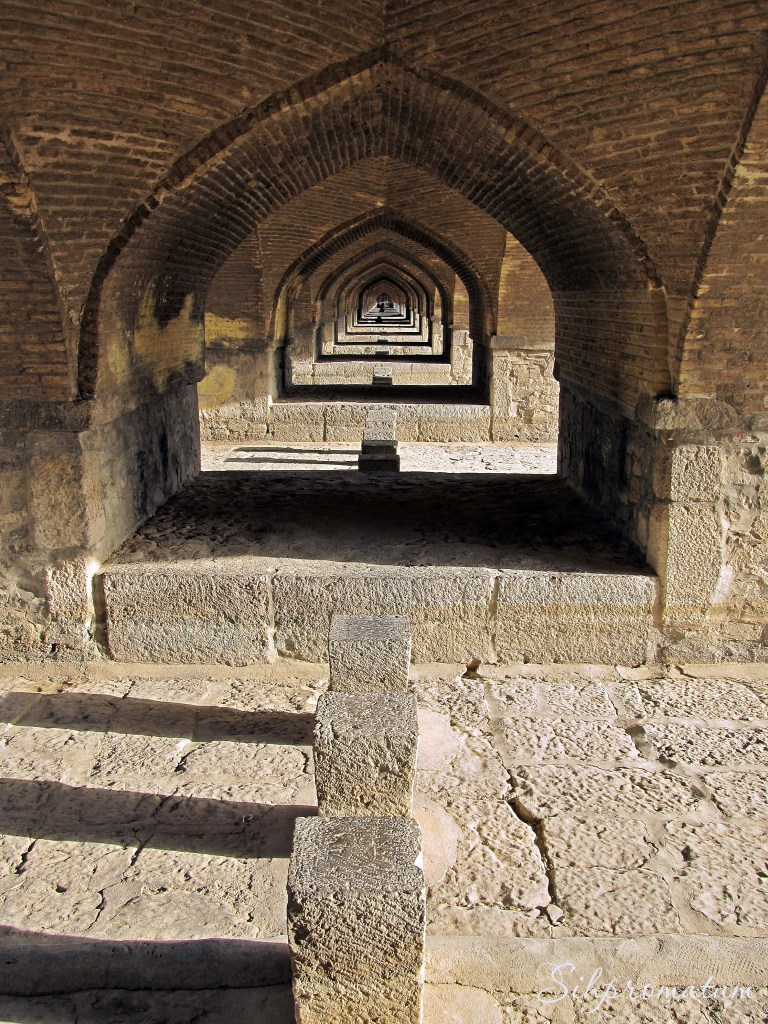 under Khaju bridge, Isfahan