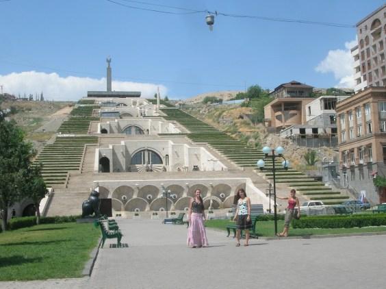 Cascades in the center of Yerevan.