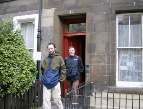 With cousin Ivor - Edinburgh