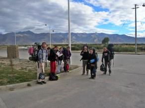Friendship Highway, China, Backpacks and Bra Straps