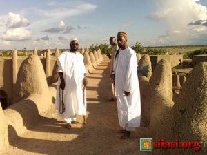 on the roof of the womens section of the djenne masjidweb