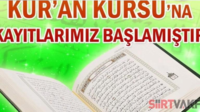 Kur'an Kursu Kayıtlarımız Başlamıştır
