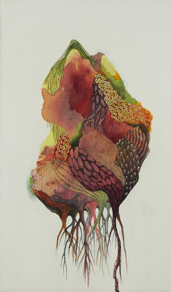 Korean artist/ silk painting