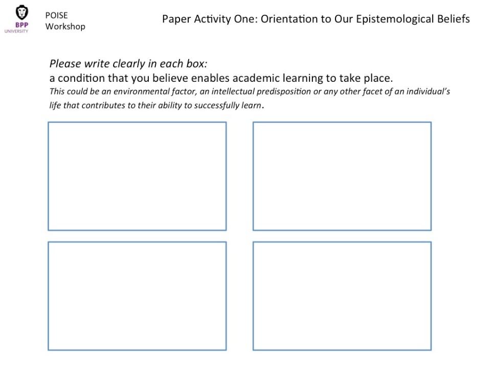 Workshop Paper Activity One