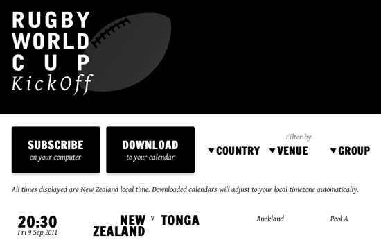 Rugby World Cup KickOff