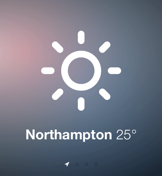 Sun - weather mobile web app