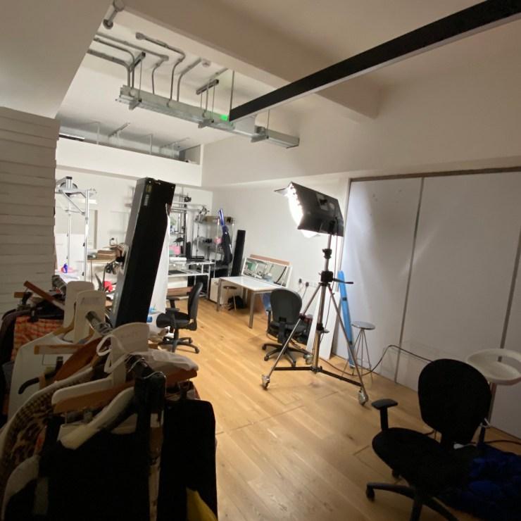 Empty modelling studio