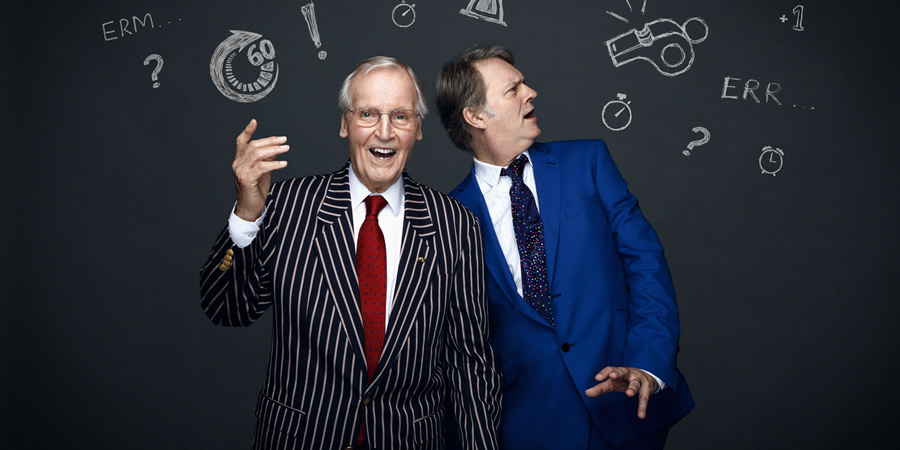 Nicholas Parsons and Paul Merton