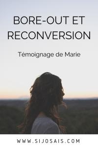 Bore-out et reconversion - Témoignage de Marie